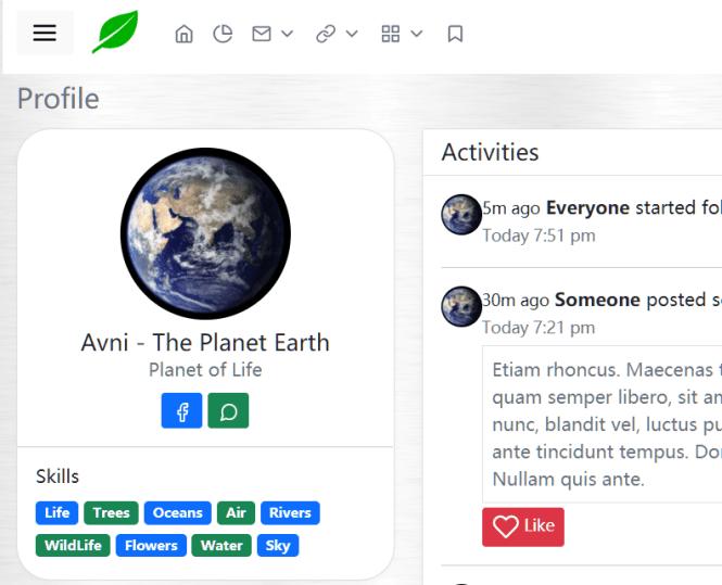 Avni Bootstrap 5 Admin Template Profile