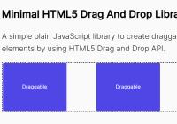 Minimal HTML5 Drag And Drop JavaScript Library - dragndrop.js