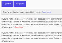 Create Read More Links For Large Text Blocks - Read.js