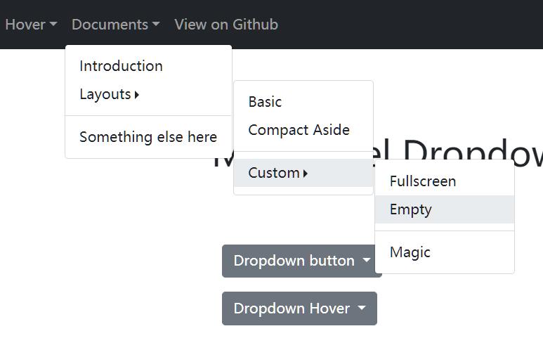 Multi-level Dropdown Component For Bootstrap 5