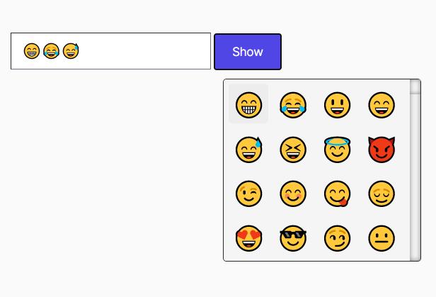 Tiny Emoji Picker In Pure JavaScript – EmojiButtonList.js