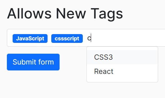 Easy Tags Input Component For Bootstrap 5 – Tags.js