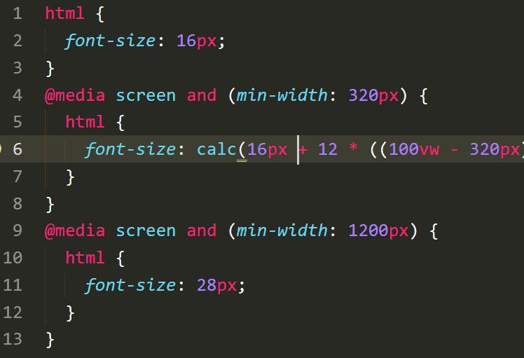 Dynamic Font Size Solution For Responsive Design