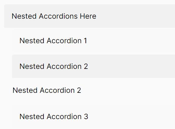 Smooth Nested Accordion Web Component – Vanilla-Accordions