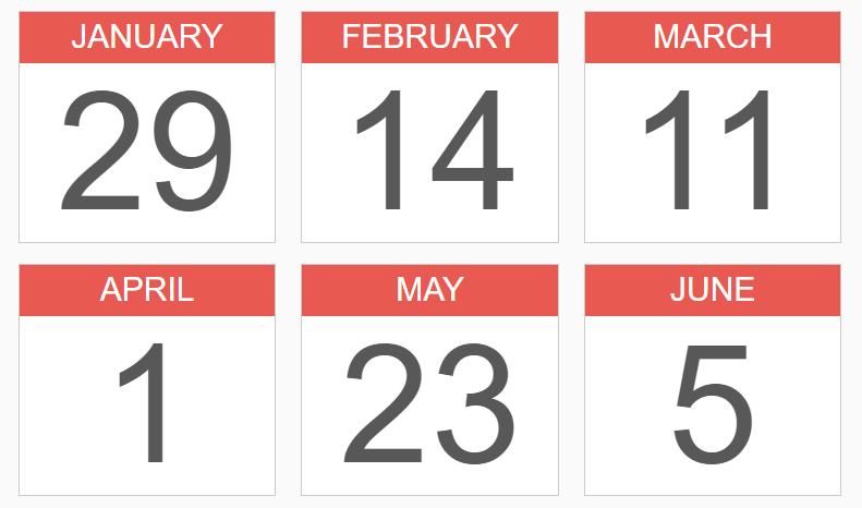 Create Plain Calendar Icons Using CSS – cal.css