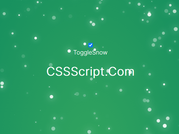 Animated Snowfall Effect In Pure JavaScript