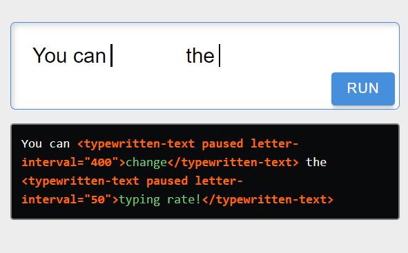 Inline Typing Animation Component – typewritten-text