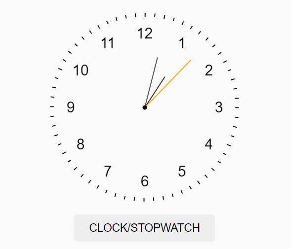Analog Clock/Stopwatch Web Component