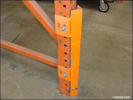 pallet rack repair warehouse material