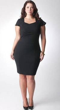 Black dresses plus size cocktail - Style Jeans