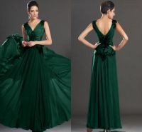 Green formal dresses with sleeves - Style Jeans