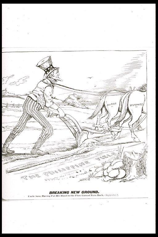UNCLE SAM, HAVING PUT HIS HAND TO THE PLOUGH, CANNOT TURN BACK