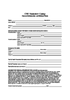 CSU Summer Camp Medical Forms