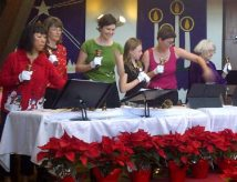 Handbell Choir at Work Christmas 2013