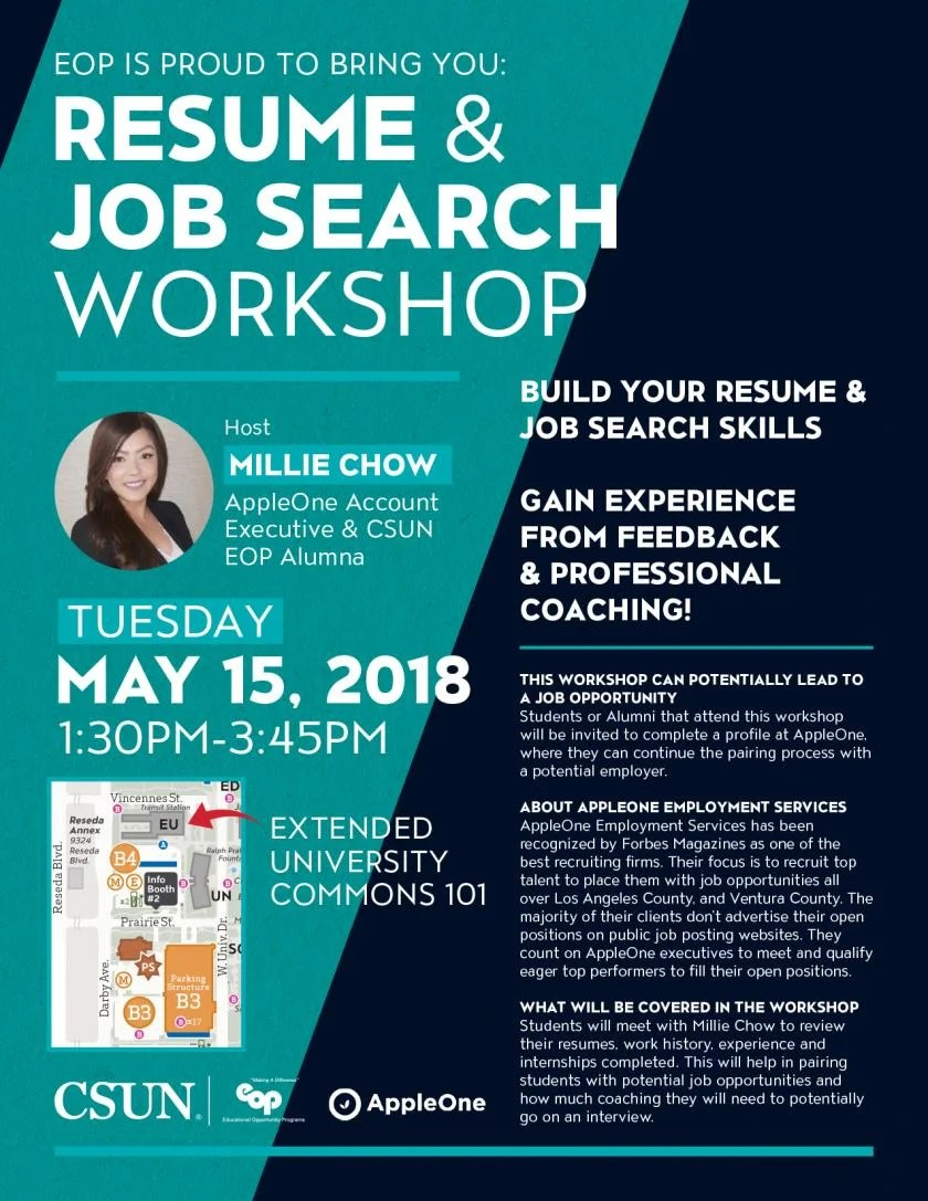 resume and job search - Resume Workshop Near Me