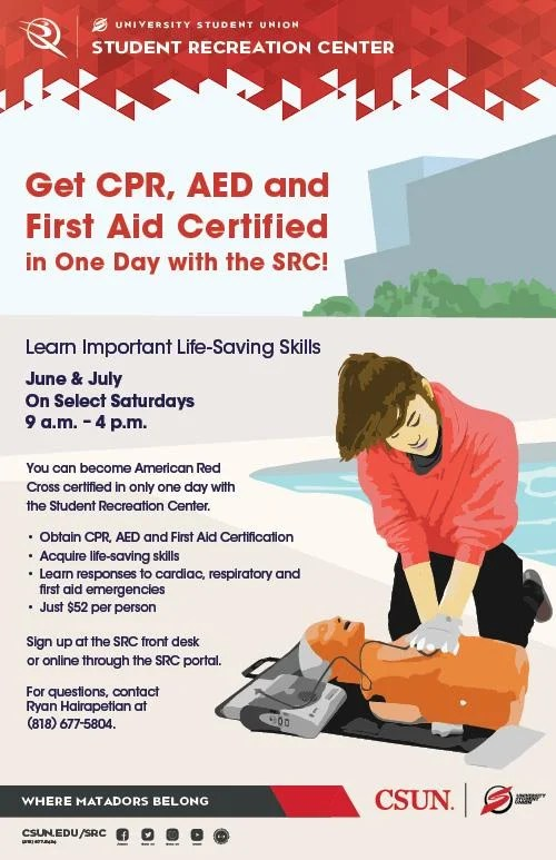SRC American Red Cross First Aid CPR and AED Certification Classes  California State