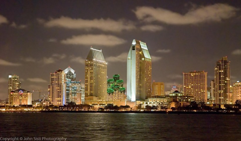 San Diego skyline at night (Flickr: John Sisti Photograpy