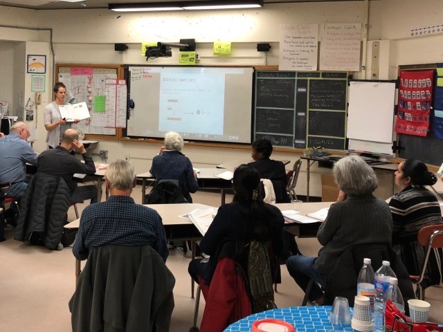 tutors being trained at middle school