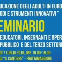 Educazione degli adulti in Europa, un seminario per discutere metodi e strumenti