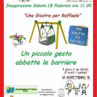 Una giostra per Raffaele: arriva a Portici la prima altalena per i bambini disabili
