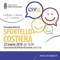 CSV Napoli torna in costiera, Piano di Sorrento ospiterà uno sportello territoriale
