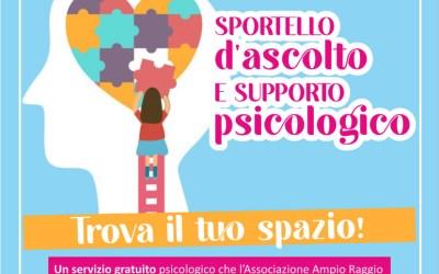 """Curare le ferite invisibili: nasce lo sportello d'ascolto e supporto psicologico di """"Ampio Raggio"""""""