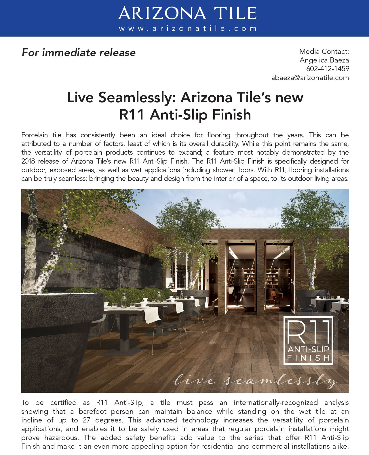 arizona tile live seamlessly arizona tile s new r11 anti slip finish ceramic tile distributors