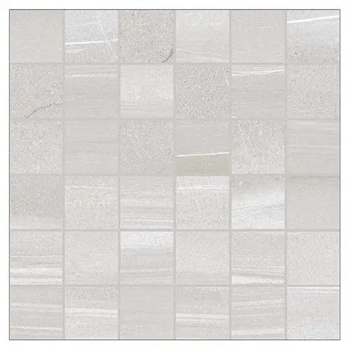 linear grey mosaic tile 50x50mm sheet 300x300mm