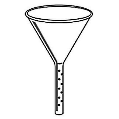 Glass Solvent Addition Funnel w/ 75mm Stem, Stem Diameter