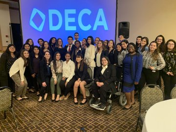 Photo of DECA students