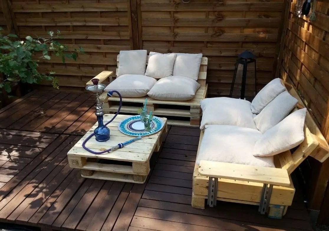 Fabriquer un salon de jardin en palette  30 Photos et
