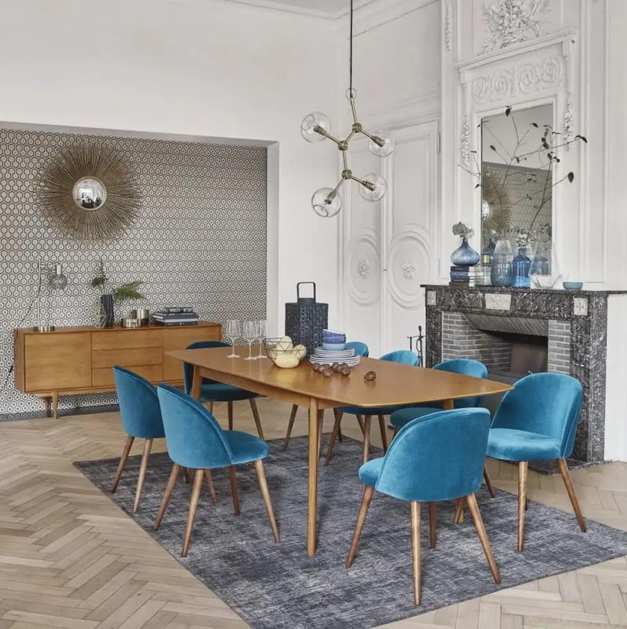 chaise bleu canard selection des plus