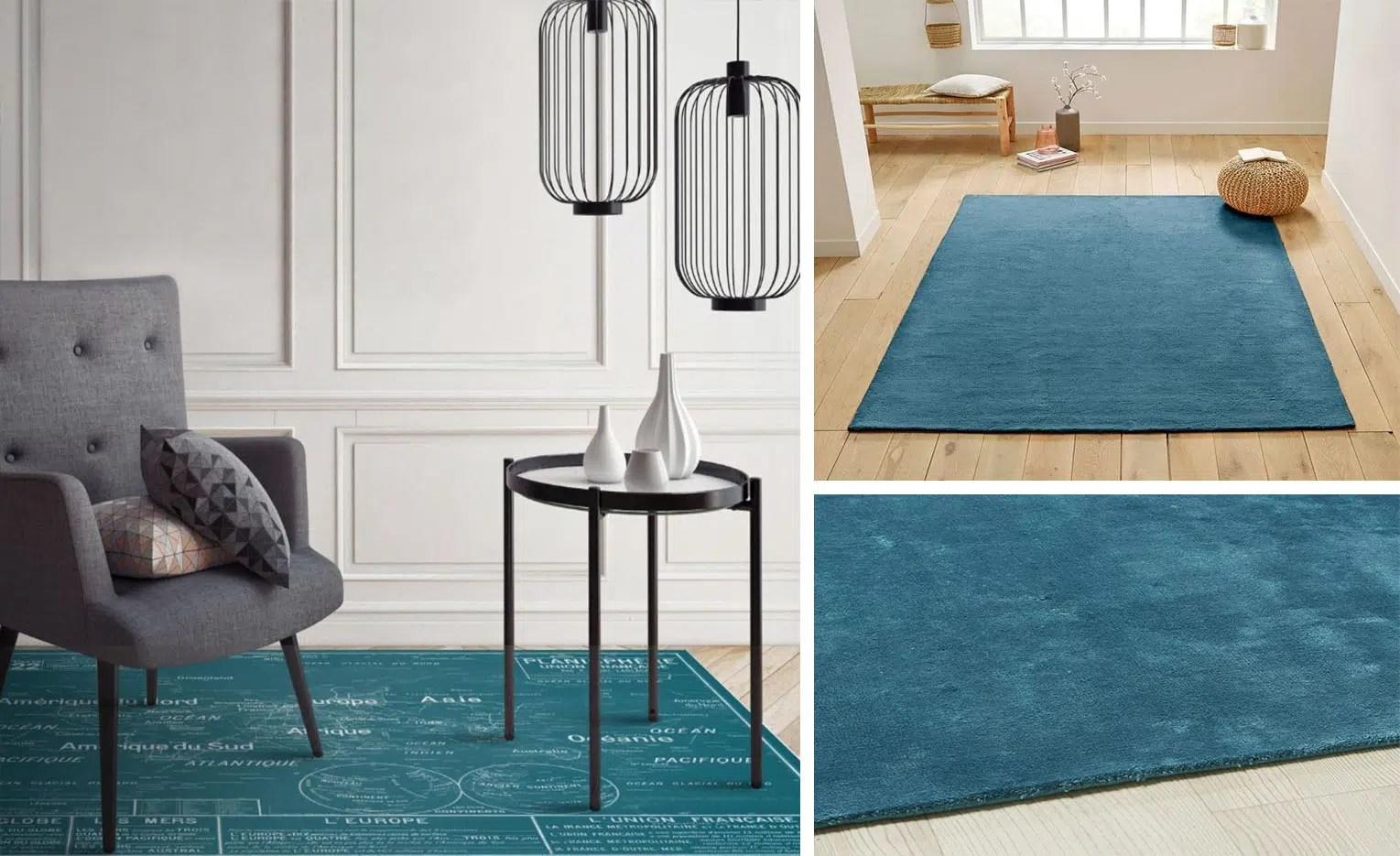 tapis bleu canard les plus beaux