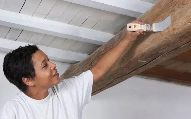 Comment Peindre Un Plafond En Bois Avec Poutres Apparentes
