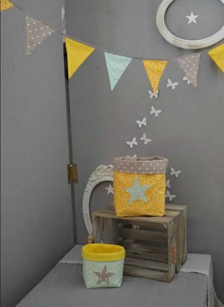 deco chambre bebe jaune et gris 11