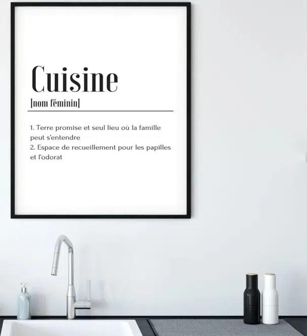 tableau deco cuisine selection des