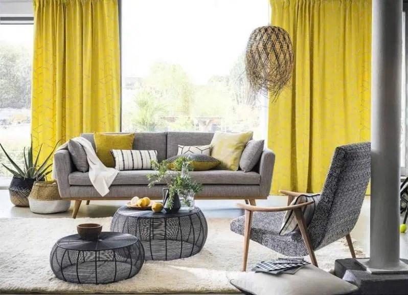 salon jaune et gris 14 idees deco