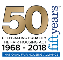 Fair Housing Act 50th Anniversary logo