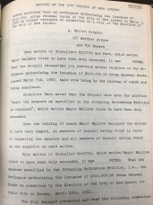 1962 New London City Council meeting minutes