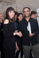 BERLIN, GERMANY - JUNE 28: Young Fashion Designer and Award Winner Aylin Tamta and Fashion Designer and Jury member Joel S. Horwitz attend the European Fashion Award FASH 2016 at Neues Museum on June 28, 2016 in Berlin, Germany. (Photo by Isa Foltin/Getty Images for SDBI.DE)