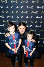 PARIS, FRANCE - JUNE 07: Zlatan Ibrahimovic poses with fans during the A-Z clothing line launch on June 7, 2016 in Paris, France. (Photo by Julien M. Hekimian/Getty Images) *** Local Caption *** Zlatan Ibrahimovic