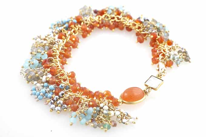 carnelian fringe bracelet
