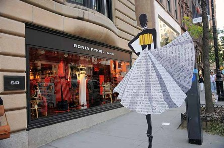 NEW YORK, NY - SEPTEMBER 08: School of Visual Arts presents Language Of Fashion, a public art display, on Madison Avenue on September 8, 2016 in New York City. (Photo by Chance Yeh/Getty Images for SVA NYC)