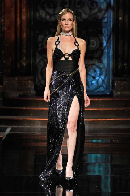 NEW YORK, NY - SEPTEMBER 13: A model walks the runway wearing Lisseth Corrao at Art Hearts Fashion NYFW The Shows presented by AIDS Healthcare Foundation at The Angel Orensanz Foundation on September 13, 2016 in New York City. (Photo by Arun Nevader/Getty Images for Art Hearts Fashion)