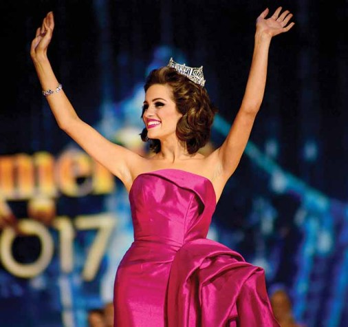 Miss America 2016 Betty Cantrell wears a gown from Sherri Hill