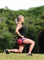 Lori-Ann Marchese performs a lunge.