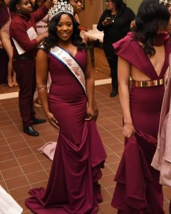 Miss Black USA Tonille Watkis at Hartford Fashion Week. Credits: Jewelry from Spicy Fashion Boutique, Dress Saints by SJ, Hair Ms Blaze Hair Studio, Make-up Sabrina and Shanice W., Shoes Be Made, and Styled by Kades Mode.