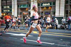Marathon runner and fitsporation female, Megan Jaswell. (ALI ENGIN PHOTOGRAPHY)