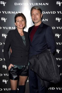 MILAN, ITALY - JANUARY 14: Mads Mikkelsen and Hanne Jacobsen attend 'David Yurman - Where Design Meets Art' during Milan Men's Fashion Week Fall/Winter 2017/18 on January 14, 2017 in Milan, Italy. (Photo by Stefania D'Alessandro/Getty Images for David Yurman) *** Local Caption *** Mads Mikkelsen; Hanne Jacobsen