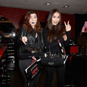 PARIS, FRANCE - JANUARY 23: (L-R) Beauty influencers Clara Channel and Elsamakeup attend the Kat Von D Beauty opening weekend with influencers at Sephora Champs-Elysees on January 23, 2017 in Paris, France. (Photo by Dominique Charriau/Getty Images for Sephora) *** Local Caption *** Clara Channel; Elsamakeup